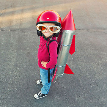 Girl with a jetpack