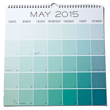 Paper Source Academic Paint Chip Calendar