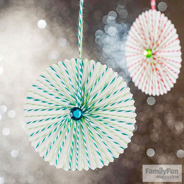 Candy circle ornaments