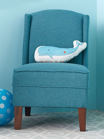 Threshold Wingback Chair with Whale Pillow