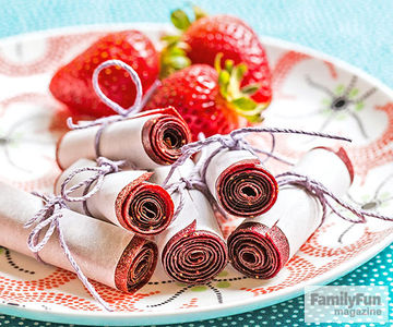 Fruit and Veggie Scroll-ups