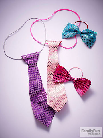 Sparkly fabric ties