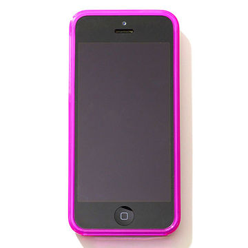 iPhone with hot pink cover