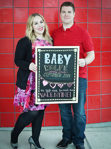 Valentine's Day Pregnancy Announcement