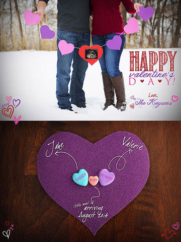 Valentine's Day Pregnancy Announcemen