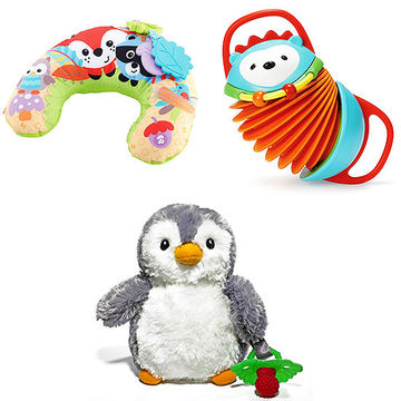 Comfort Vibe Play Wedge, RaZ-Buddy Ethan Penguin, Hedgehog Accordion