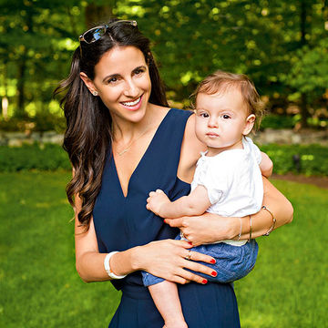 Chelsea Hirschhorn with baby