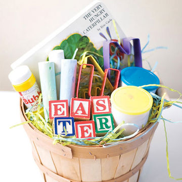 Best easter basket ideas without candy alphabet easter basket negle Image collections