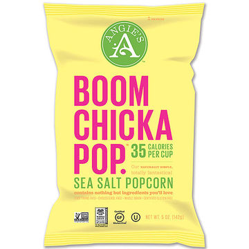 Angie's Boom Chicka Pop, SkinnyPop, and Good Health Organic Popcorn