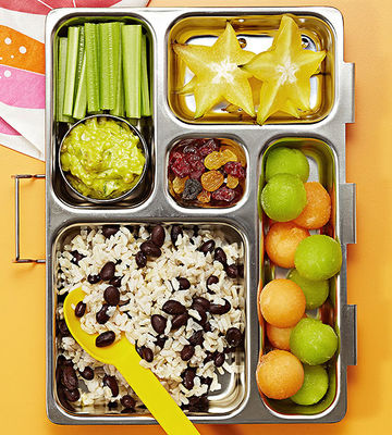 Mexican bento box lunch