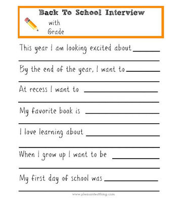 Back-to-School Interview