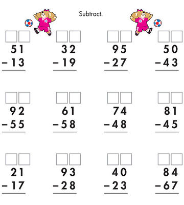 Number Names Worksheets what is regrouping in math : Subtraction Worksheets : two digit subtraction worksheets with ...