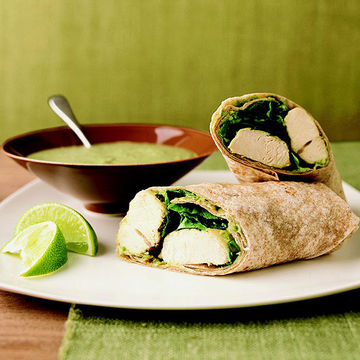 Chicken Chimichurri Wraps and Cilantro Mint Sauce (same picture)