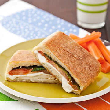 Chicken, Mozzarella, & Basil Panini