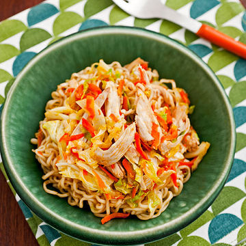 Chicken & Cabbage Stir-Fry With Noodles