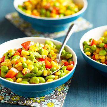 Edamame and Sweet Corn Succotash With Marjoram