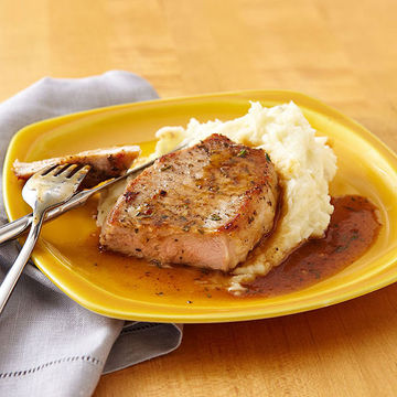 Pork Chops with Rosemary Reduction