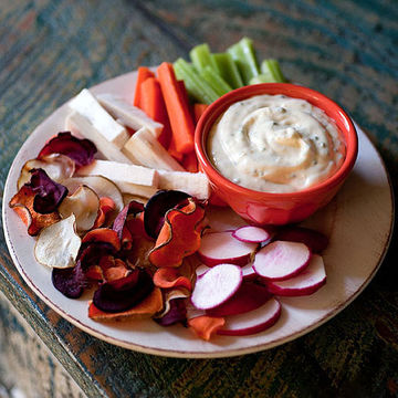Ranch Dip and Root Chips