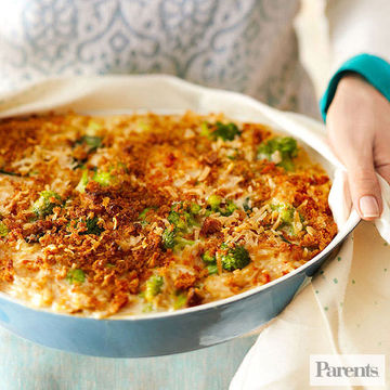 Broccoli and Fontina Orzo Bake