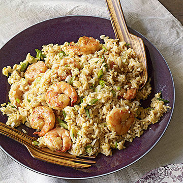 Rice With Shrimp, Scrambled Eggs, and Scallions