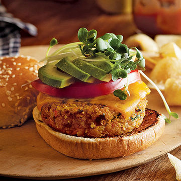 Veggie Burgers with Brown Rice, Fresh Parsley, and Chickpeas