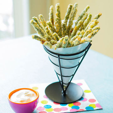 Green Bean Fries in cone