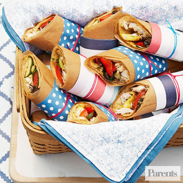 Chicken hummus wraps