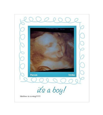 We're Having a Baby: Boy sonogram, tongue