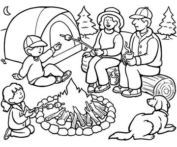 Going Camping printable coloring page