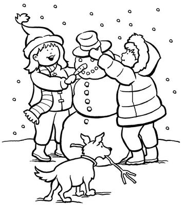 winter snowman coloring pages - photo#49