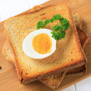 Toast with boiled egg