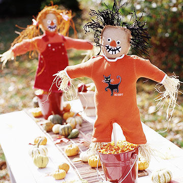 Scarecrow table decorations