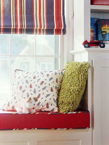 Window seat pillows