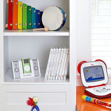 left music bookshelf in Ultimate Nursery