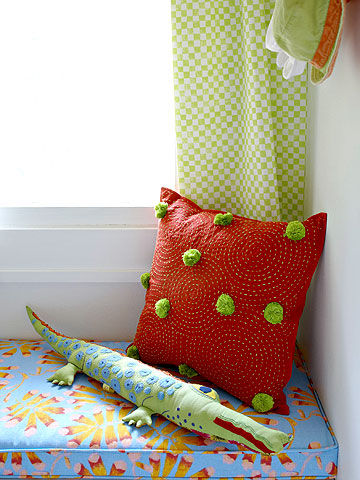 padded window seat in Ultimate Nursery