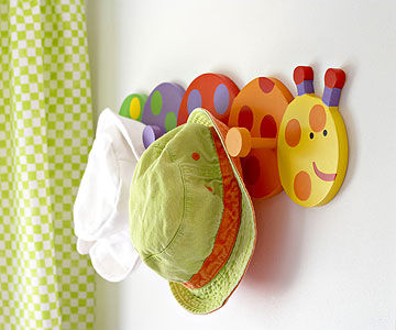 caterpillar coat rack in Ultimate Nursery