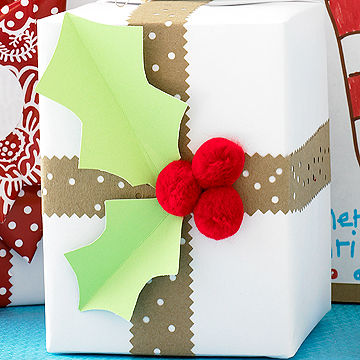 Holly wrap package