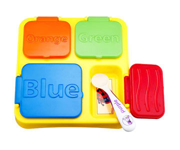 Baby Einstein Mealtime Activity Tray and Eat & Discover spoon