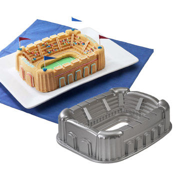 stadium cake and pan