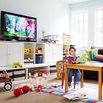 play room with 3D LED TV