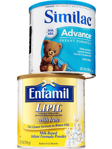 Similac and Enfamil