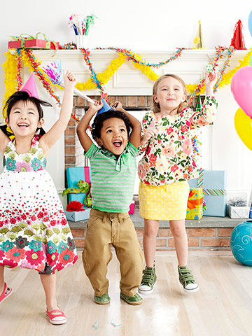 Kids celebrating at birthdayparty
