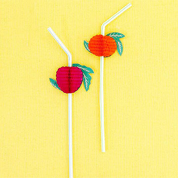 Fruit party straws
