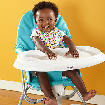 toddler in highchair
