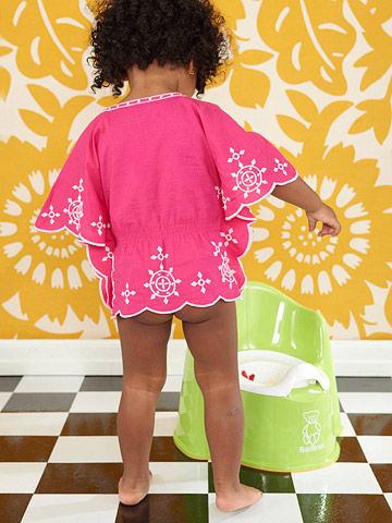 Little girl potty training