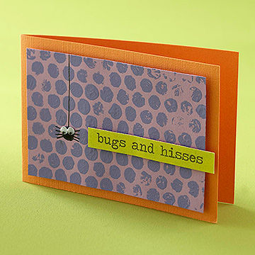 """Bugs and Hisses"" Card"