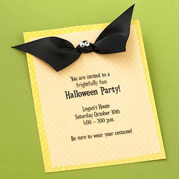 Ribbon Bat Invite