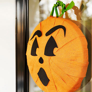 Pumpkin fabric wreath