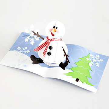 Pop up snowman holiday card
