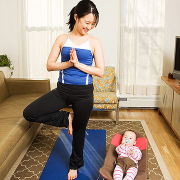 mother and baby yoga